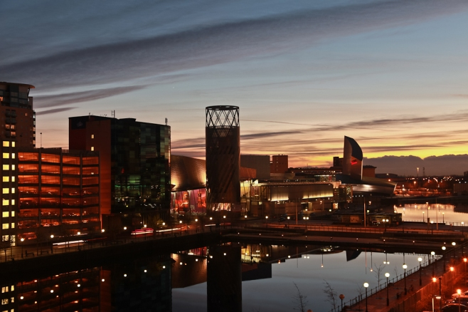 Salford Quays by Night